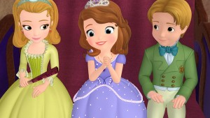 """SOFIA THE FIRST - """"Just One of the Princes"""" - Sofia strives to become the first princess to earn a spot on her school's flying derby team and although paired with the overly-anxious horse Minimus (voiced by """"Modern Family""""s Eric Stonestreet), she learns to believe in herself and proves that a princess can do anything she sets her mind to. This episode of Disney Junior's """"Sofia The First"""" airs FRIDAY, JANUARY 11 on Disney Channel (9:30-10:00 a.m., ET/PT) and Disney Junior (5:30-6:00 p.m., ET/PT). (DISNEY JUNIOR) PRINCESS AMBER, PRINCESS SOFIA, PRINCE JAMES"""